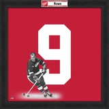 Gordie Howe, Red Wings photographic representation of the player's jersey Framed Memorabilia