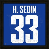 Henrik Sedin, Canucks photographic representation of the player's jersey Framed Memorabilia