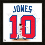 Chipper Jones, Braves representation of the player&#39;s jersey Framed Memorabilia