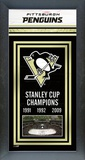 Pittsburgh Penguins Framed Championship Banner Framed Memorabilia