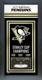 Pittsburgh Penguins Framed Championship Banner Framed Memorabilia