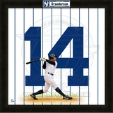 Curtis Granderson, Yankees representation of the player&#39;s jersey Framed Memorabilia