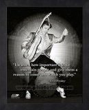 Elvis Quote Framed Memorabilia