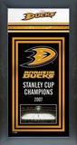 Anaheim Ducks Framed Championship Banner Framed Memorabilia