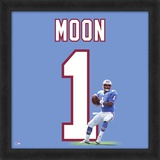 Warren Moon, Oilers representation of the player's jersey Framed Memorabilia