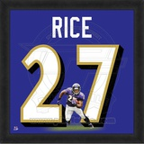 Ray Rice, Ravens photographic representation of the player's jersey Framed Memorabilia