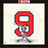 Ted Williams, Red Sox representation of the player's jersey Framed Memorabilia