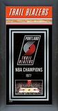 Portland Trailblazers Framed Championship Banner Framed Memorabilia