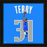 Jason Terry, Mavericks representation of the player's jersey Framed Memorabilia