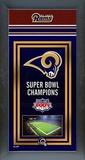 St. Louis Rams Framed Championship Banner Framed Memorabilia