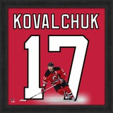 Ilya Kovalchuk, Devils representation of the player's jersey Framed Memorabilia