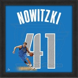 Dirk Nowitzki, Mavericks photographic representation of the player's jersey Framed Memorabilia