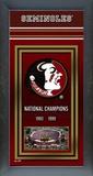 Florida State University Framed Championship Banner Framed Memorabilia