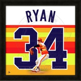Nolan Ryan, Astros representation of the player's jersey Framed Memorabilia
