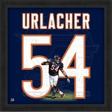 Brian Urlacher, Bears photographic representation of the player&#39;s jersey Framed Memorabilia