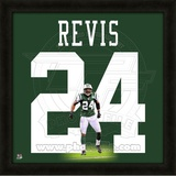 Darrelle Revis, Jets representation of the player's jersey Framed Memorabilia