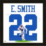 Emmitt Smith, Cowboys photographic representation of the player's jersey Framed Memorabilia