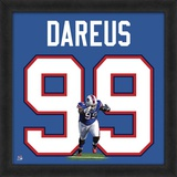 Marcell Dareus, Bills representation of the player's jersey Framed Memorabilia