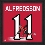 Daniel Alfredsson, Senators representation of the player's jersey Framed Memorabilia