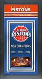 Detroit Pistons Framed Championship Banner Framed Memorabilia