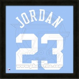 Michael Jordan, University of North Caralina representation of the player&#39;s jersey Framed Memorabilia