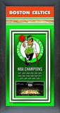 Boston Celtics Framed Championship Banner Framed Memorabilia