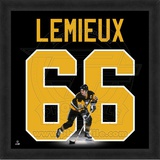 Mario Lemieux, Penguins photographic representation of the player's jersey Framed Memorabilia