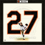 Juan Marichal, Giants representation of the player's jersey Framed Memorabilia