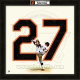 Juan Marichal, Giants representation of the player's jersey Framed Memorabilia