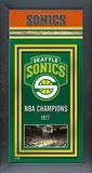 Seattle Sonics Framed Championship Banner Framed Memorabilia