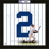 Derek Jeter, Yankees representation of the player's jersey Framed Memorabilia