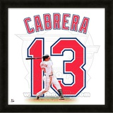 Asdrubal Cabrera, Indians representation of the player&#39;s jersey Framed Memorabilia