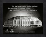 Yankee Stadium – Mickey Mantle ProQuote Framed Memorabilia