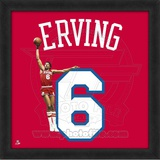Julius Erving, 76ers photographic representation of the player&#39;s jersey Framed Memorabilia