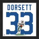 Tony Dorsett, Cowboys representation of the player's jersey Framed Memorabilia