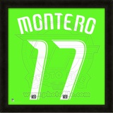 Fredy Montero, Sounders representation of the player's jersey Framed Memorabilia