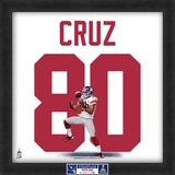Limited Edition: Victor Cruz, Giants representation of the player's jersey Framed Memorabilia