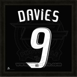 Charlie Davies, DC United representation of the player's jersey Framed Memorabilia