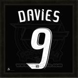 Charlie Davies, DC United representation of the player's jersey Framed Memorabilia