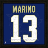 Dan Marino, University of Pittsburgh representation of the player's jersey Framed Memorabilia