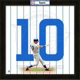 Ron Santo, Cubs representation of the player&#39;s jersey Framed Memorabilia