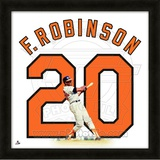 Frank Robinson, Orioles representation of the player's jersey Framed Memorabilia