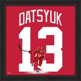 Pavel Datsyuk, Red Wings photographic representation of the player&#39;s jersey Framed Memorabilia
