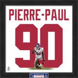 Limited Edition: Jason Pierre-Paul, Giants representation of the player's jersey Framed Memorabilia