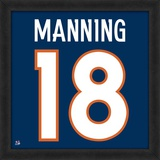 Peyton Manning, Broncos representation of the player's jersey Framed Memorabilia