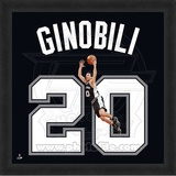 Manu Ginobili, Spurs photographic representation of the player's jersey Framed Memorabilia