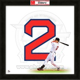 Jacoby Ellsbury, Red Sox representation of the player's jersey Framed Memorabilia