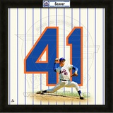 Tom Seaver, Mets representation of the player&#39;s jersey Framed Memorabilia