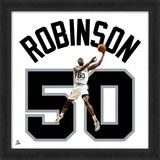 David Robinson, Spurs photographic representation of the player's jersey Framed Memorabilia