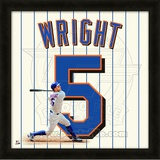 David Wright, Mets representation of the player's jersey Framed Memorabilia